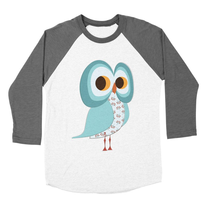 Proud Retro Owl Men's Baseball Triblend Longsleeve T-Shirt by Runderella's Artist Shop