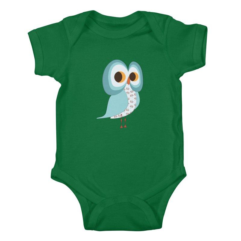Proud Retro Owl Kids Baby Bodysuit by Runderella's Artist Shop