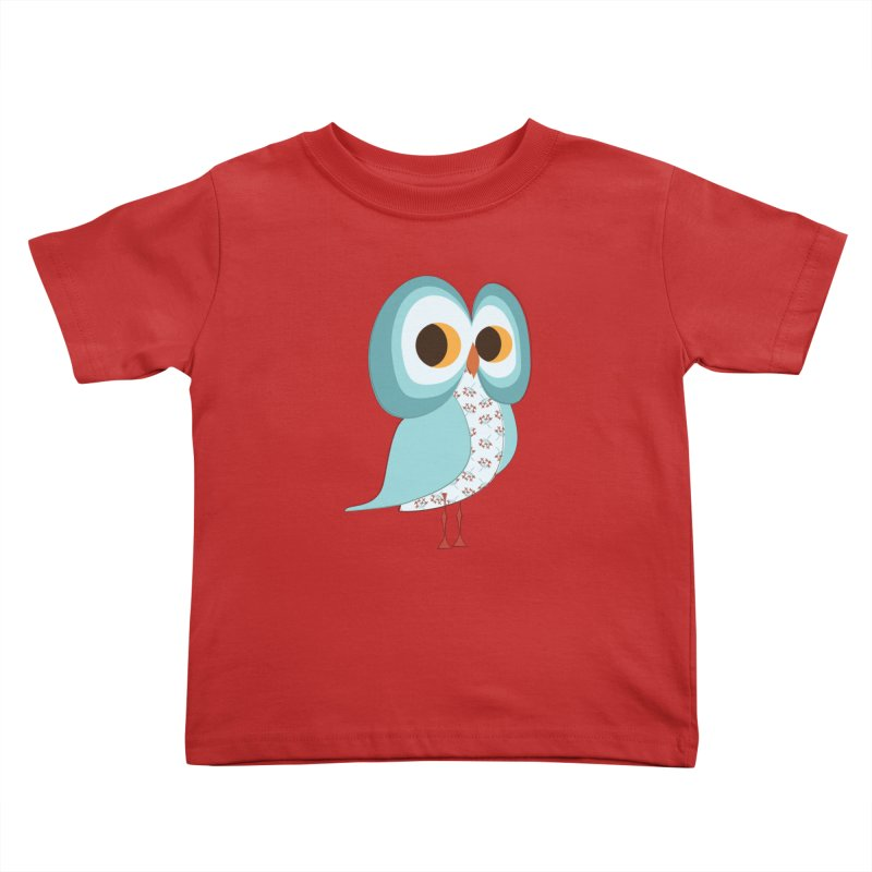 Proud Retro Owl Kids Toddler T-Shirt by Runderella's Artist Shop