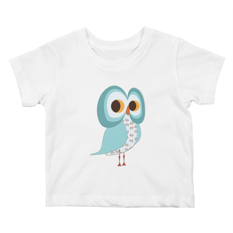 Proud Retro Owl Kids Baby T-Shirt by Runderella's Artist Shop