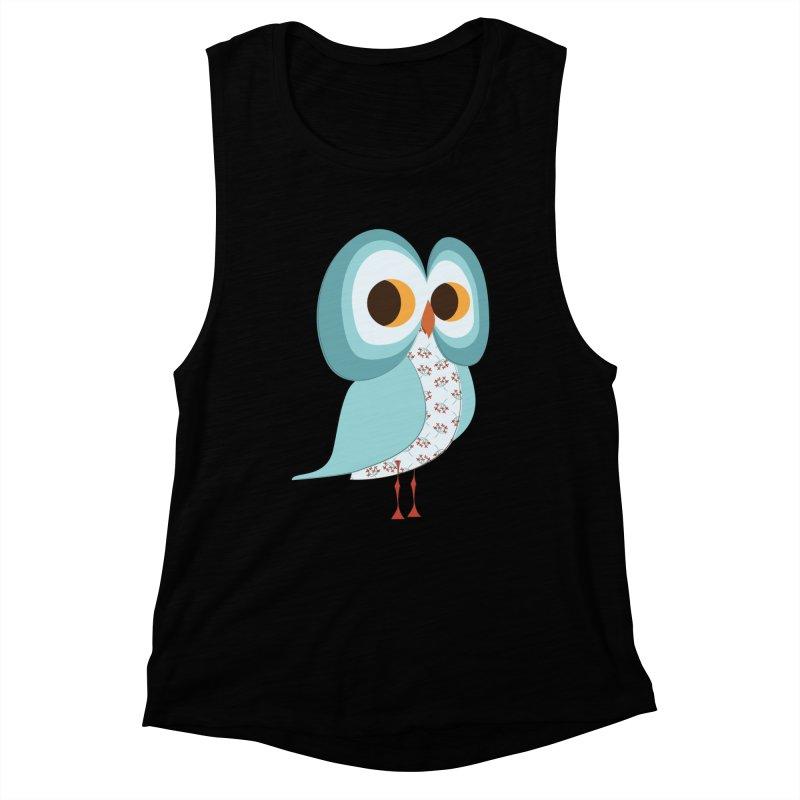 Proud Retro Owl Women's Muscle Tank by Runderella's Artist Shop