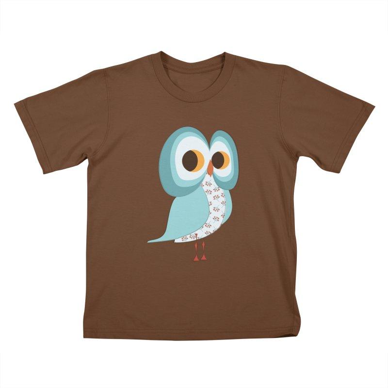 Proud Retro Owl Kids T-Shirt by Runderella's Artist Shop
