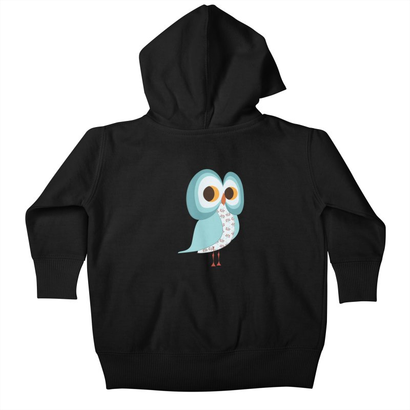 Proud Retro Owl Kids Baby Zip-Up Hoody by Runderella's Artist Shop