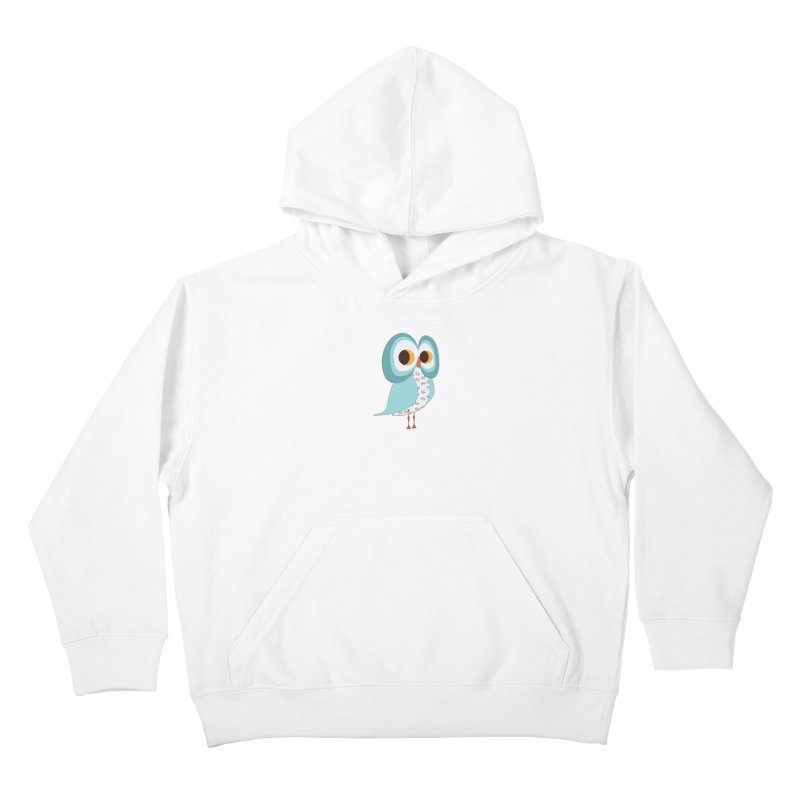 Proud Retro Owl Kids Pullover Hoody by Runderella's Artist Shop