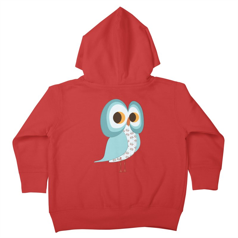 Proud Retro Owl Kids Toddler Zip-Up Hoody by Runderella's Artist Shop