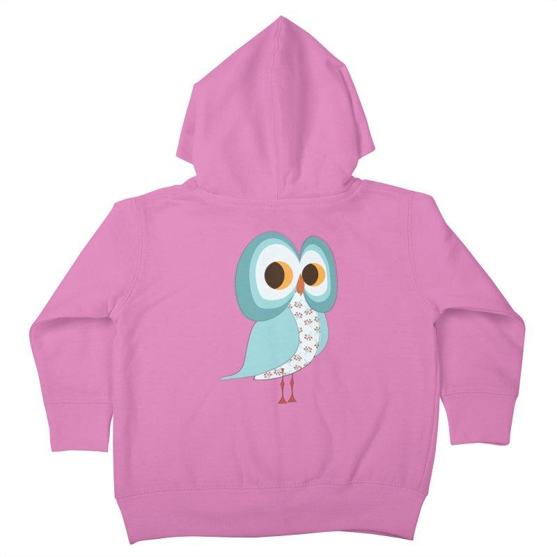 Proud Retro Owl Kids Toddler Zip-Up Hoody by Runderella's Artist Shop