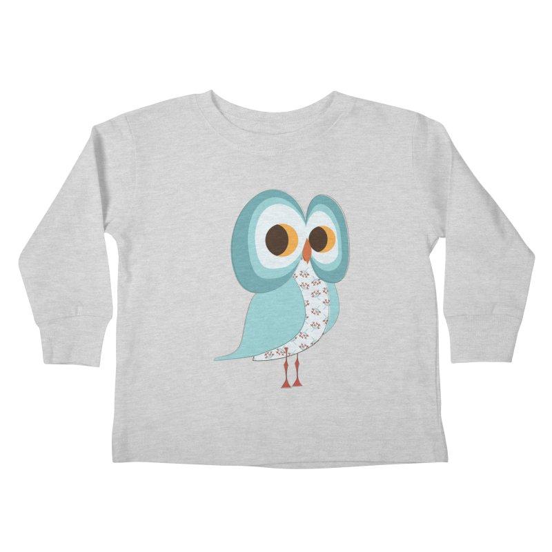 Proud Retro Owl Kids Toddler Longsleeve T-Shirt by Runderella's Artist Shop