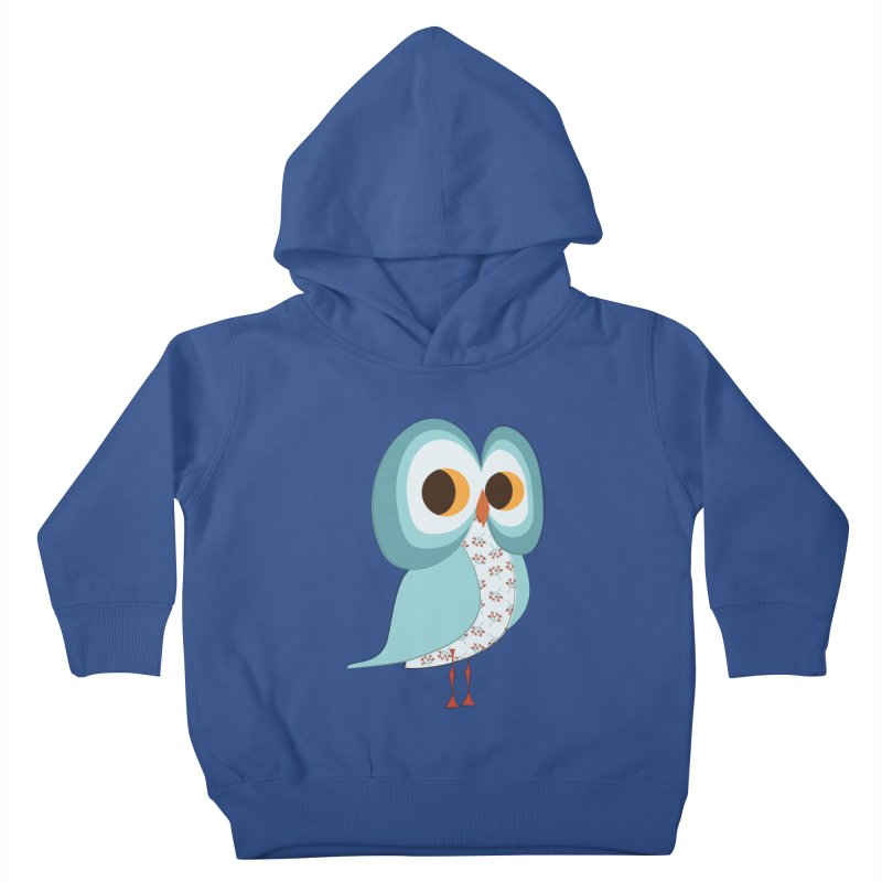 Proud Retro Owl Kids Toddler Pullover Hoody by Runderella's Artist Shop