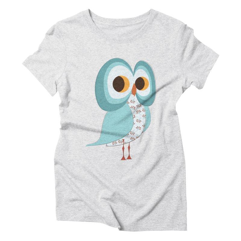 Proud Retro Owl Women's Triblend T-Shirt by Runderella's Artist Shop