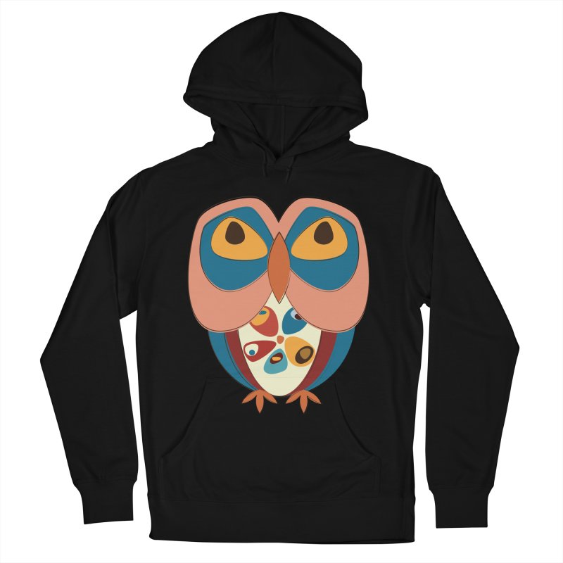 Pleading Owlet Women's French Terry Pullover Hoody by Runderella's Artist Shop