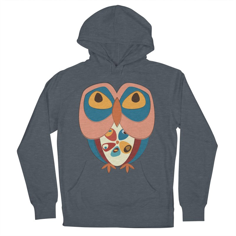 Pleading Owlet Men's French Terry Pullover Hoody by Runderella's Artist Shop