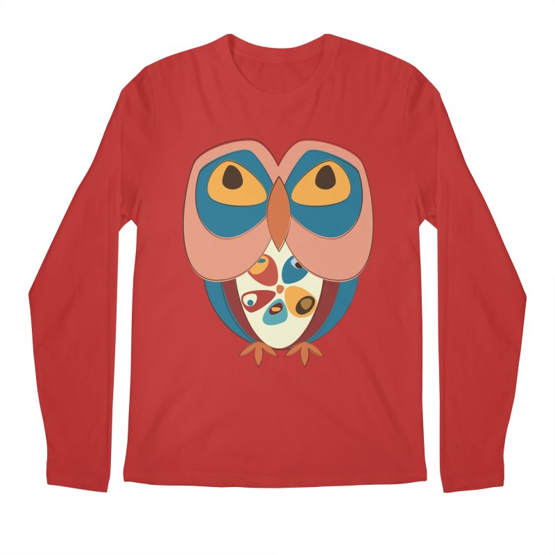 Pleading Owlet Men's Regular Longsleeve T-Shirt by Runderella's Artist Shop
