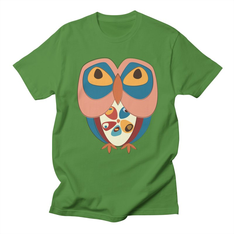 Pleading Owlet Men's Regular T-Shirt by Runderella's Artist Shop
