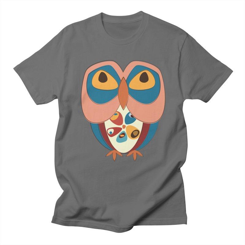 Pleading Owlet Men's T-Shirt by Runderella's Artist Shop