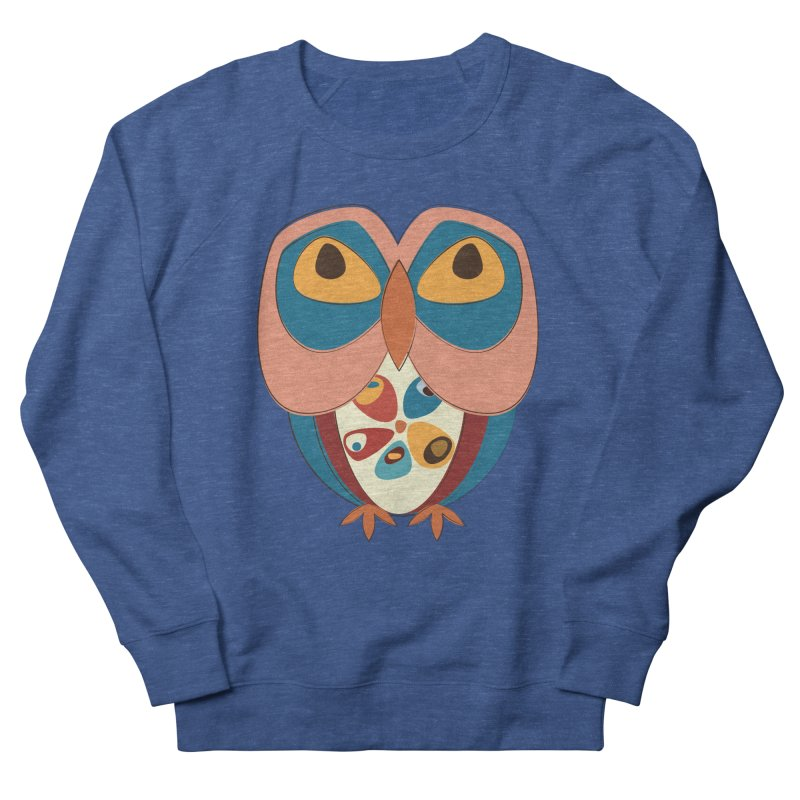 Pleading Owlet Women's French Terry Sweatshirt by Runderella's Artist Shop