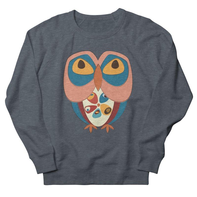 Pleading Owlet Women's French Terry Sweatshirt by Runderella's Artist Shop