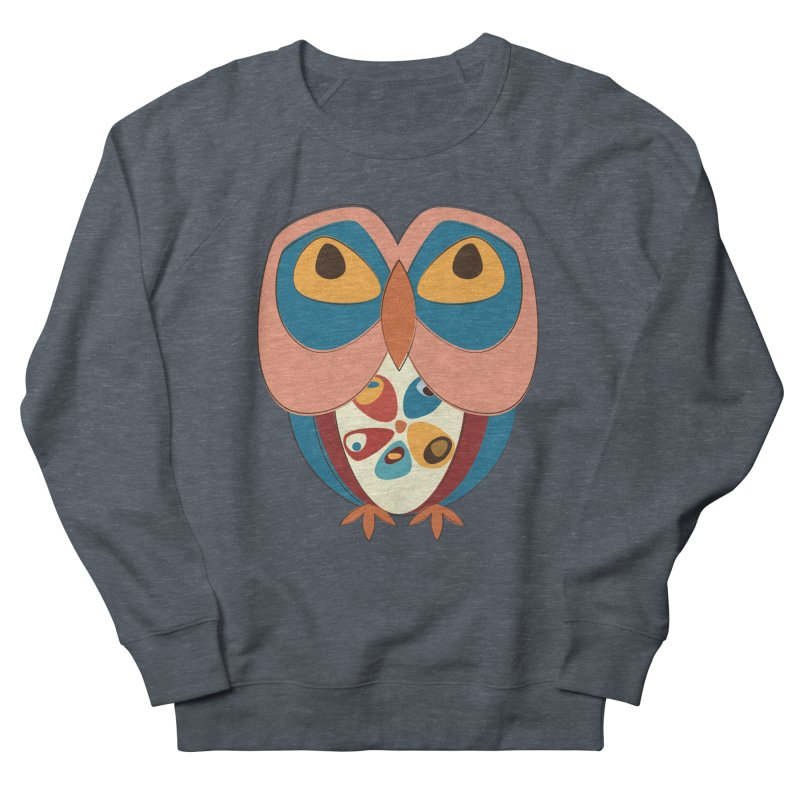 Pleading Owlet Men's French Terry Sweatshirt by Runderella's Artist Shop
