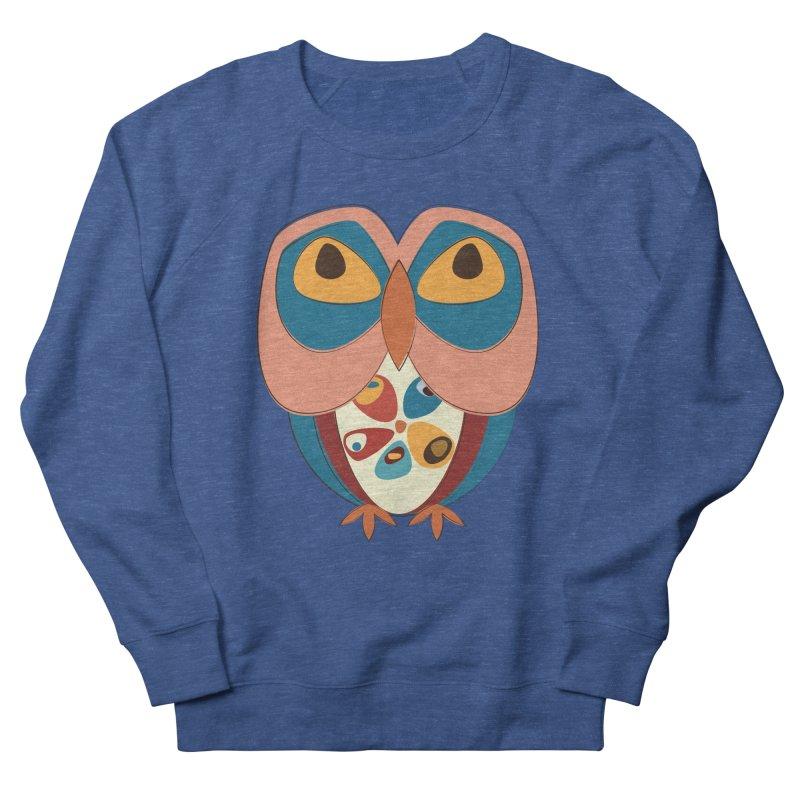 Pleading Owlet Men's French Terry Sweatshirt by Runderella's Artist Shop