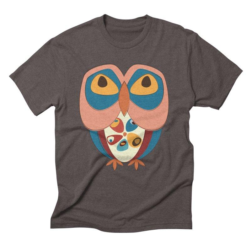 Pleading Owlet Men's Triblend T-Shirt by Runderella's Artist Shop