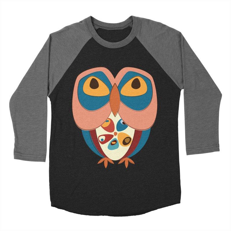 Pleading Owlet Women's Baseball Triblend Longsleeve T-Shirt by Runderella's Artist Shop