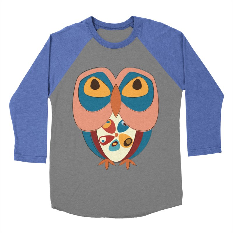 Pleading Owlet Men's Baseball Triblend Longsleeve T-Shirt by Runderella's Artist Shop