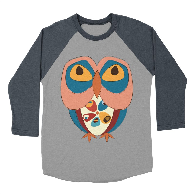 Pleading Owlet Men's Baseball Triblend Longsleeve T-Shirt by Runderella's Artist Shop