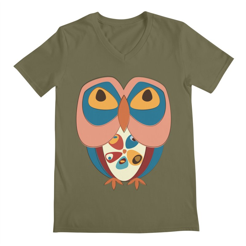 Pleading Owlet Men's Regular V-Neck by Runderella's Artist Shop