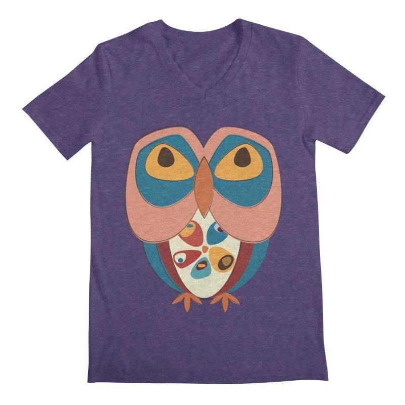 Pleading Owlet Men's Regular V-Neck by Runderella's Artist Shop