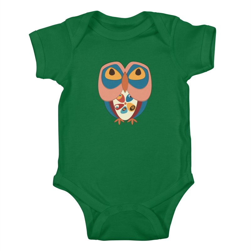Pleading Owlet Kids Baby Bodysuit by Runderella's Artist Shop