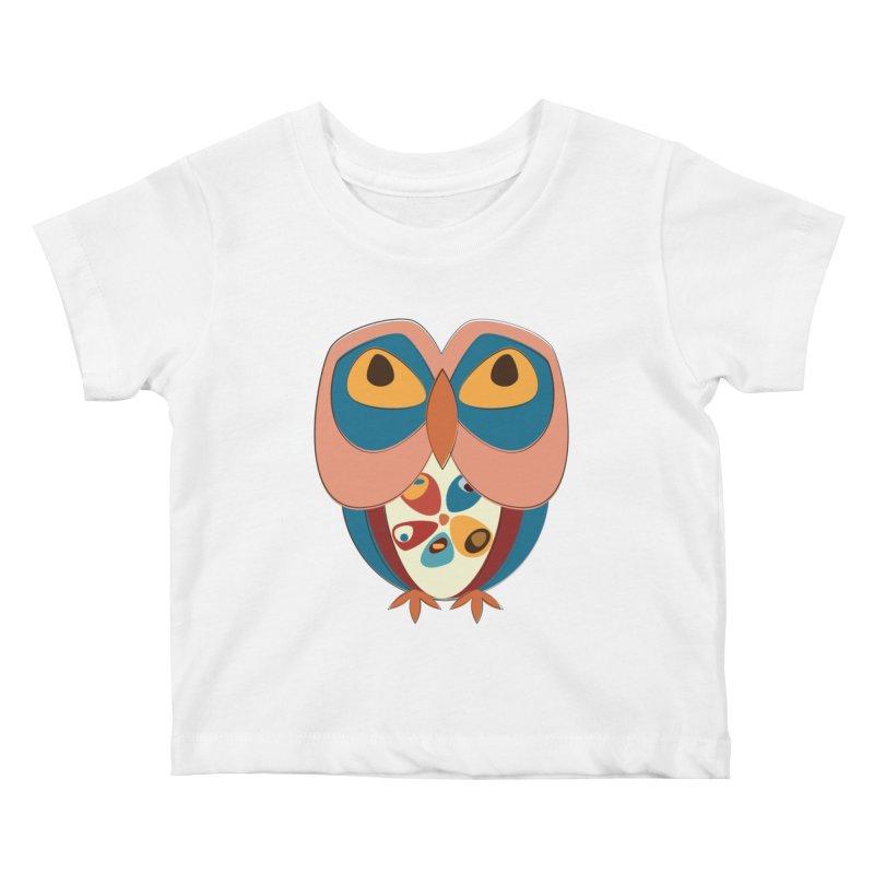 Pleading Owlet Kids Baby T-Shirt by Runderella's Artist Shop