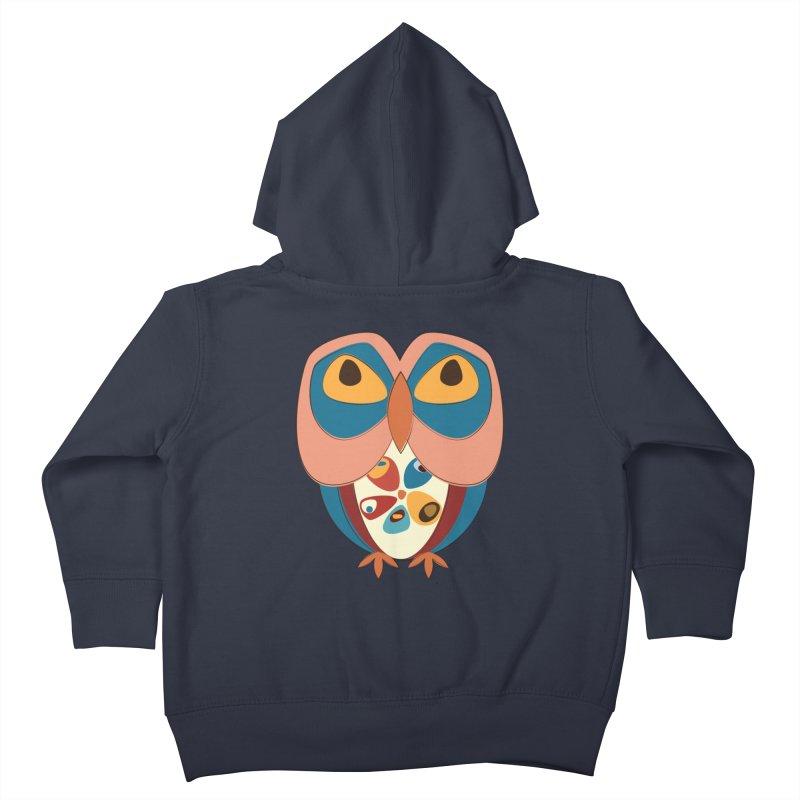 Pleading Owlet Kids Toddler Zip-Up Hoody by Runderella's Artist Shop