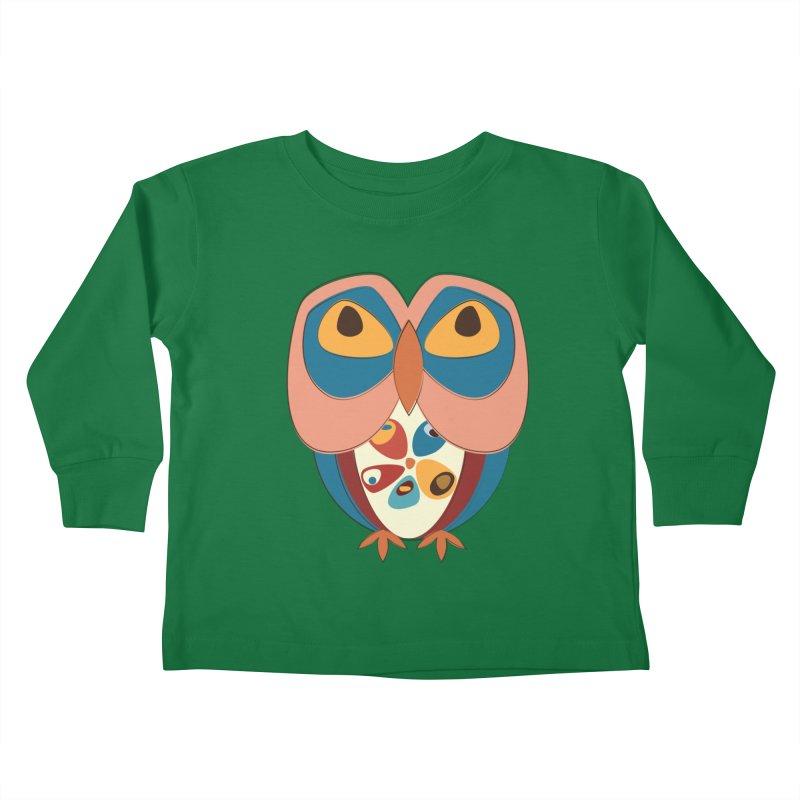 Pleading Owlet Kids Toddler Longsleeve T-Shirt by Runderella's Artist Shop