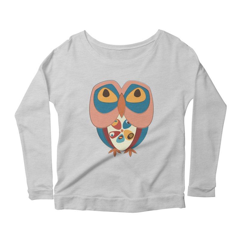 Pleading Owlet Women's Scoop Neck Longsleeve T-Shirt by Runderella's Artist Shop