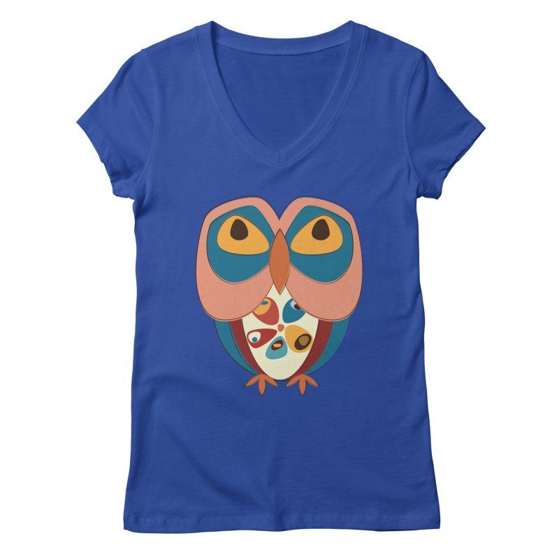 Pleading Owlet Women's Regular V-Neck by Runderella's Artist Shop