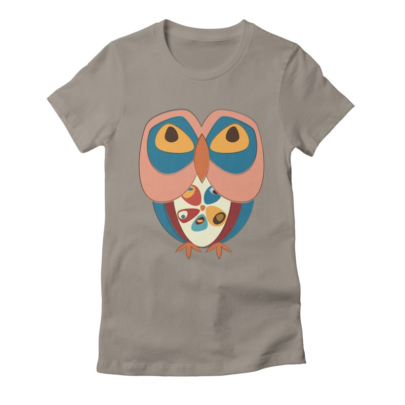 Pleading Owlet Women's Fitted T-Shirt by Runderella's Artist Shop