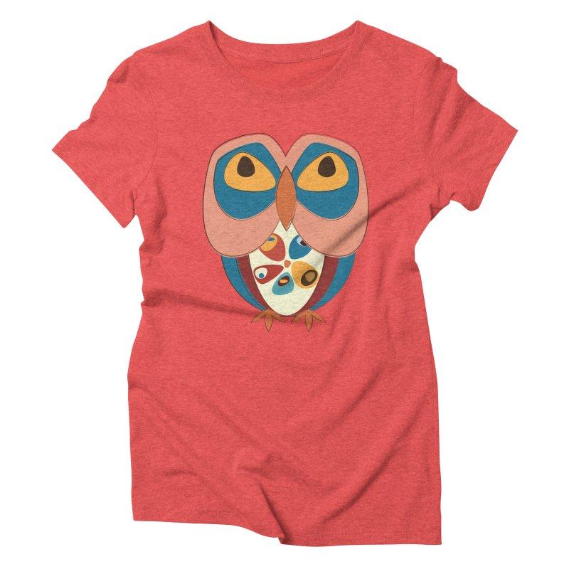 Pleading Owlet Women's Triblend T-Shirt by Runderella's Artist Shop