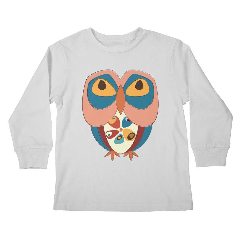 Pleading Owlet Kids Longsleeve T-Shirt by Runderella's Artist Shop
