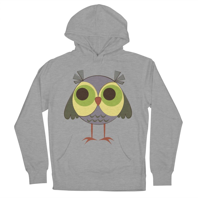 Retro Purple Owlet Men's French Terry Pullover Hoody by Runderella's Artist Shop