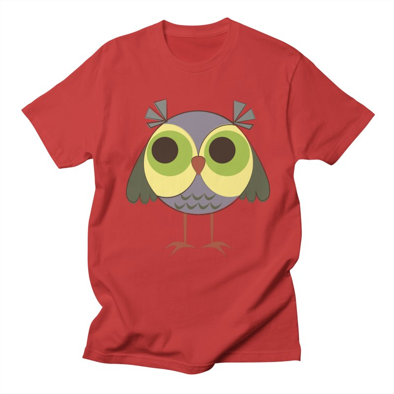 Retro Purple Owlet Women's Regular Unisex T-Shirt by Runderella's Artist Shop