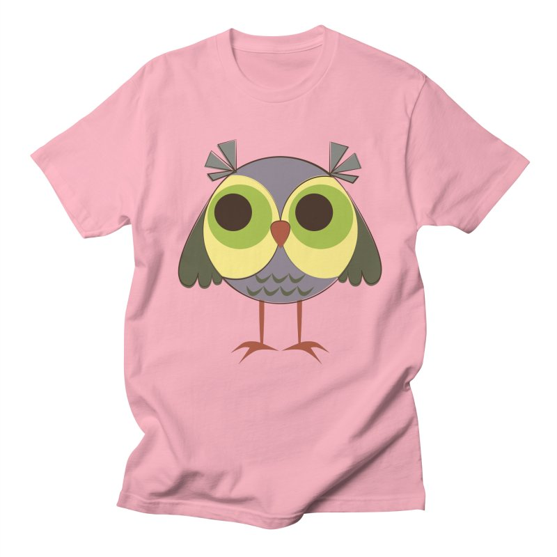 Retro Purple Owlet Men's Regular T-Shirt by Runderella's Artist Shop