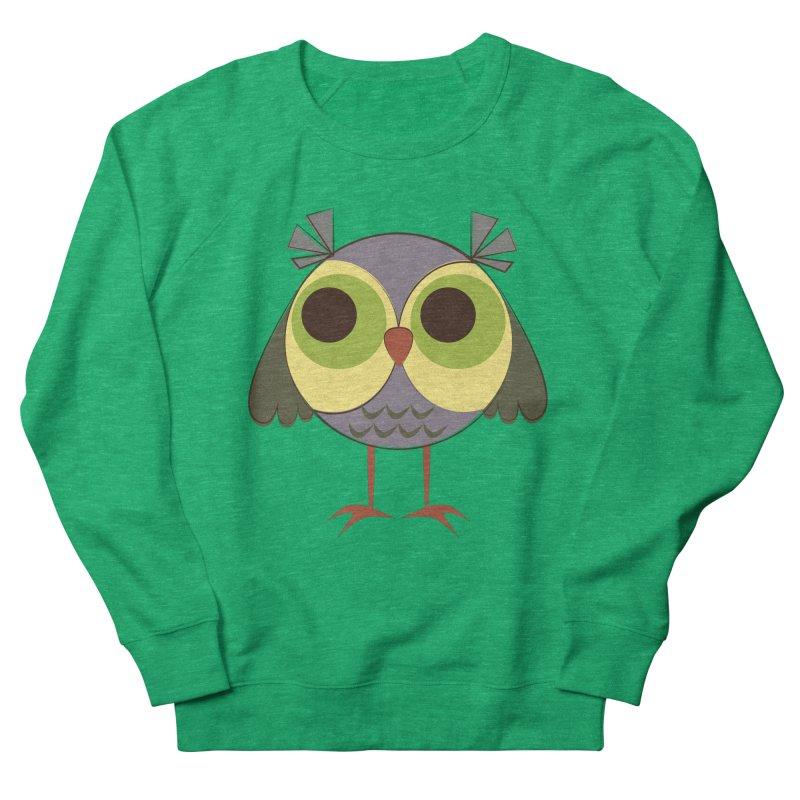 Retro Purple Owlet Women's French Terry Sweatshirt by Runderella's Artist Shop