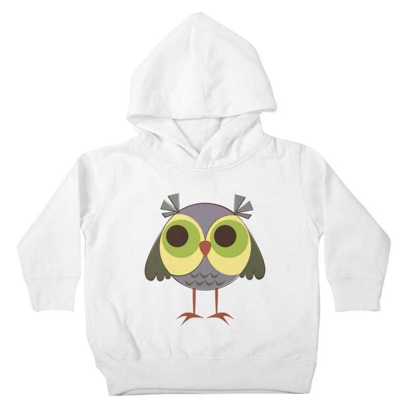 Retro Purple Owlet Kids Toddler Pullover Hoody by Runderella's Artist Shop
