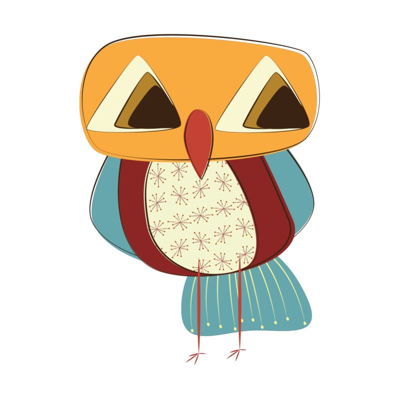Sad Retro Owl by Runderella's Artist Shop