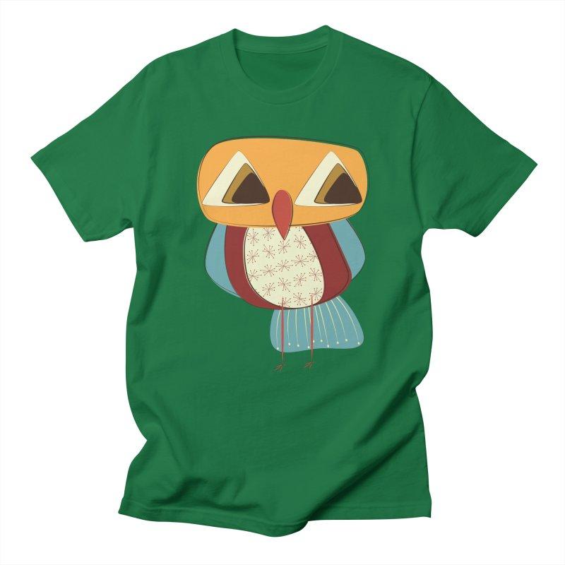 Sad Retro Owl Men's Regular T-Shirt by Runderella's Artist Shop