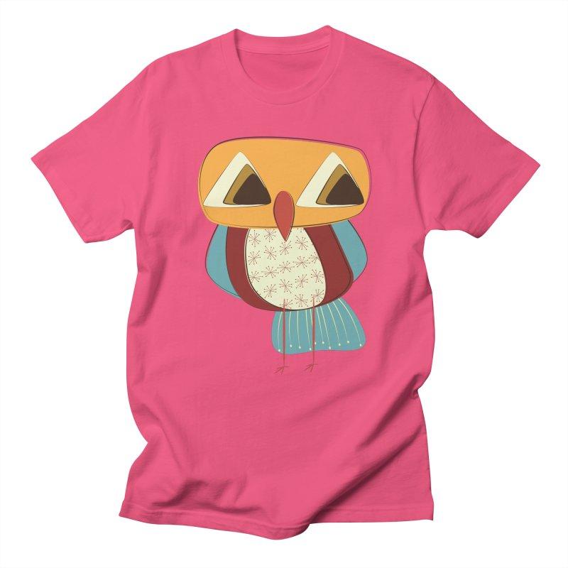 Sad Retro Owl Women's Regular Unisex T-Shirt by Runderella's Artist Shop