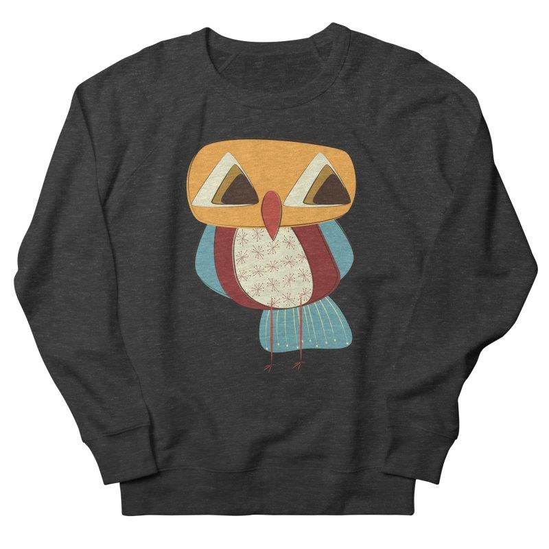 Sad Retro Owl Women's French Terry Sweatshirt by Runderella's Artist Shop