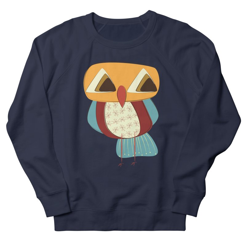 Sad Retro Owl Women's French Terry Sweatshirt by Runderella's Artist Shop