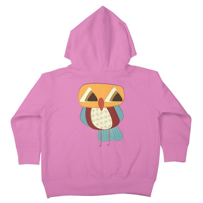 Sad Retro Owl Kids Toddler Zip-Up Hoody by Runderella's Artist Shop