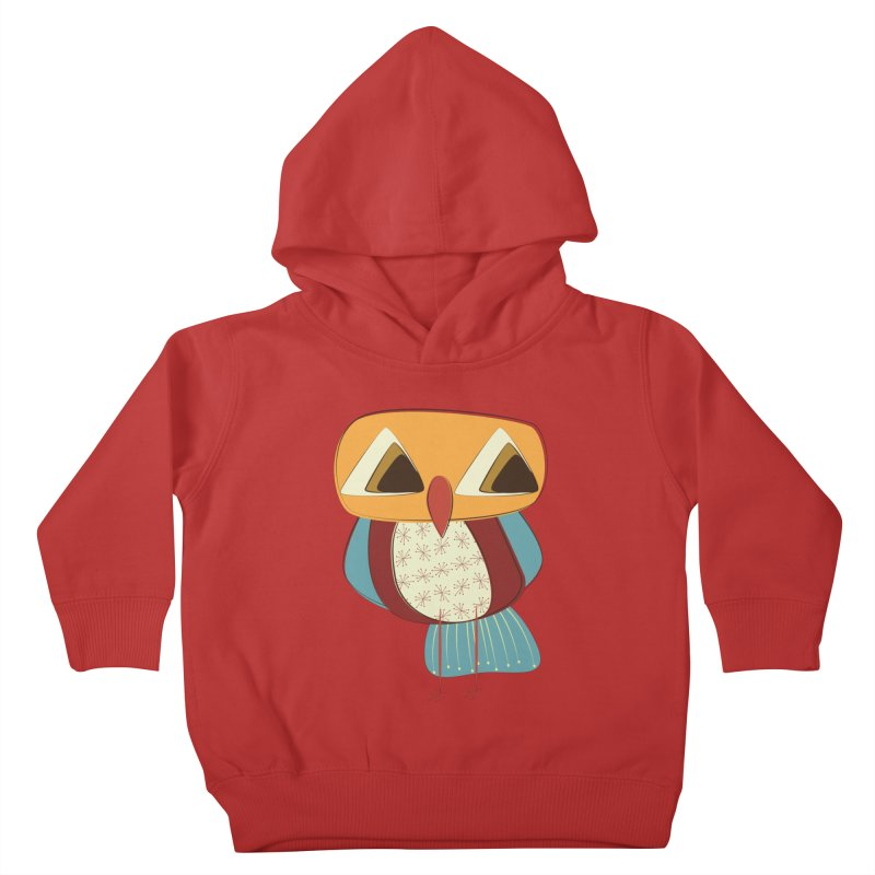Sad Retro Owl Kids Toddler Pullover Hoody by Runderella's Artist Shop