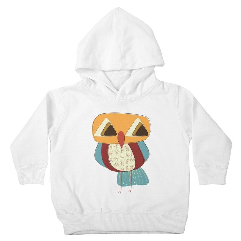 Sad Retro Owl Kids Toddler Pullover Hoody by Runderella's Artist Shop
